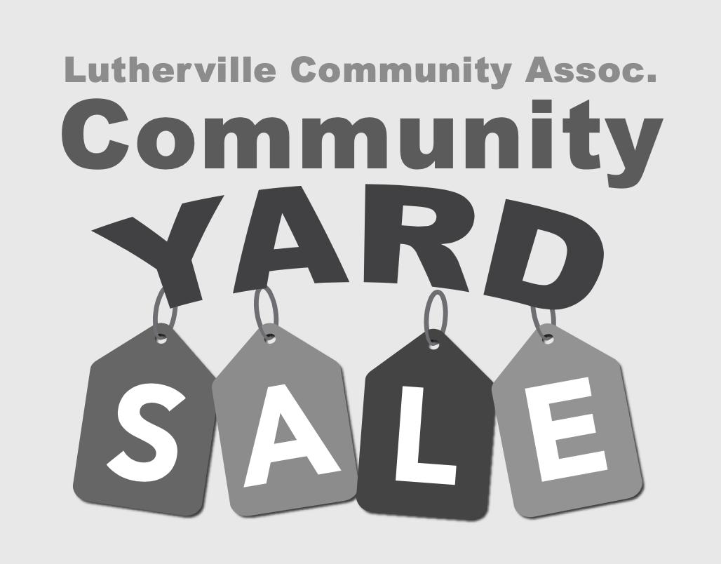 Lutherville Community Yard Sale 2021 Logo